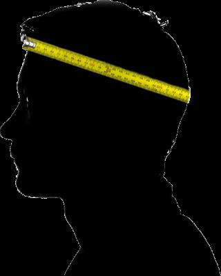 Kopfgröße für Karnevalskappen oder Karnevalsmützen messen oder ausmessen